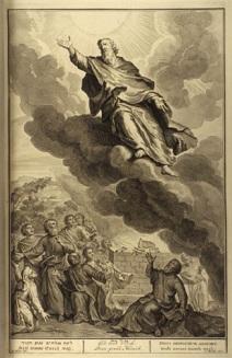 God took Enoch - Illustrated by Gerard Hoet (1648-1733)