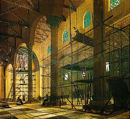 The Construction of the Nea Church (Tower of David Museum)
